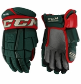 Minnesota Wild CCM 3 Pro Stock Hockey Gloves - Brodin