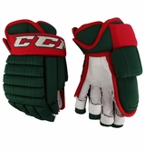 Minnesota Wild CCM 4 Roll Pro Stock Hockey Gloves