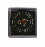 Minnesota Wild Official NHL Game Puck with Cube