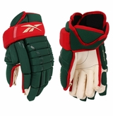 Minnesota Wild RBK Pro Stock Hockey Gloves