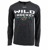 Minnesota Wild Reebok Center Ice Locker Room Sr. Long Sleeve Performance Shirt