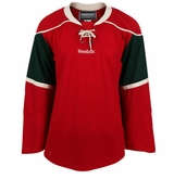Minnesota Wild Reebok Edge Gamewear Uncrested Junior Hockey Jersey