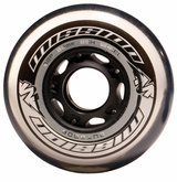 Mission BSX Outdoor 82A Inline Hockey Wheel - Clear/Black