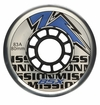 Mission BSX Outdoor 83A Roller Hockey Wheel - Clear/Blue/White