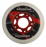 Mission CSX Indoor/Outdoor 78A Inline Hockey Wheel - White/Red