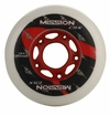 Mission CSX Indoor/Outdoor 78A Roller Hockey Wheel - White/Red