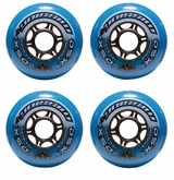 Mission DSX Indoor 76A Roller Hockey Wheel - Blue - 4 Pack