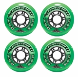 Mission DSX Outdoor 84A Inline Hockey Wheel - Green - 4 Pack