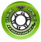 Mission DSX Outdoor 84A Roller Hockey Wheel - Green