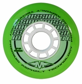 Mission DSX Premium Asphalt Outdoor 84A Inline Hockey Wheel - Green/White