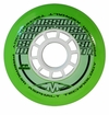 Mission DSX Premium Asphalt Outdoor 84A Roller Hockey Wheel - Green/White