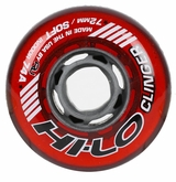 Mission Hi-Lo Clinger Soft Indoor 74A Roller Hockey Wheel - Red
