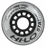 Mission Hi-Lo Static Extra-Soft Indoor 74A Inline Hockey Wheel - Silver