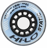 Mission Hi-Lo Static Soft Indoor 76A Inline Hockey Wheel - Blue