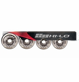 Mission Hi-Lo Street Outdoor 82A Roller Hockey Wheel � Clear � 4 Pack