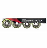 Mission Hi-Lo Switch Indoor/Outdoor 78A Roller Hockey Wheel - Green - 4 Pack