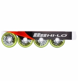 Mission HL:1 Outdoor 84A Inline Hockey Wheel - Green - 4 Pack