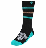 Monkey Sport by Pepper Foster - Big Monkey Socks (Black/Turquoise)