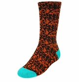 Monkey Sport by Pepper Foster - Coachella Socks (Graffiti/Turquoise)