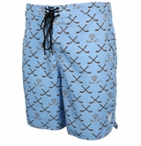 Monkey Sport by Pepper Foster - Hockey Stick Adult Swim Trunks (Blue)