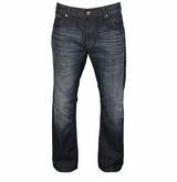 Monkey Sport by Pepper Foster - Relaxed Fit Dark Rinse Denim Jeans - Men