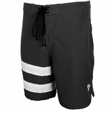 Monkey Sport by Pepper Foster - Surfs Up Adult Swim Trunks (Black)
