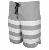 Monkey Sport by Pepper Foster - Triple Stripe Adult Swim Trunks (Grey)