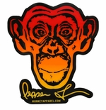 Monkey Sport by Pepper Foster - Monkey Logo Sticker (Red/Yellow)