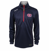 Montreal Canadiens Reebok Baselayer Quarter Zip Pullover Performance Jacket