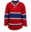 Montreal Canadiens Reebok Edge Uncrested Junior Hockey Jersey