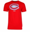 Montreal Canadiens Reebok Face-Off Carbon Logo Sr. Short Sleeve Tee Shirt