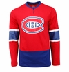 Montreal Canadiens Reebok Face-Off Jersey Sr. Long Sleeve Shirt