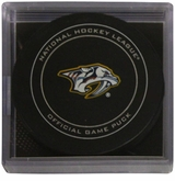Nashville Predators Official NHL Game Puck with Cube