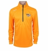 Nashville Predators Reebok Baselayer Quarter Zip Pullover Performance Jacket