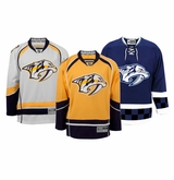 Nashville Predators Reebok Edge Jr. Premier Crested Hockey Jersey