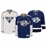 Nashville Predators Reebok Edge Sr. Authentic Hockey Jersey