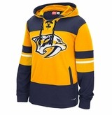 Nashville Predators Reebok Face-Off Team Jersey Sr. Hooded Sweatshirt