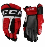 New Jersey Devils CCM 3 Pro Stock Hockey Gloves