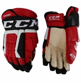 New Jersey Devils CCM 3 Pro Stock Hockey Gloves - Schlemko