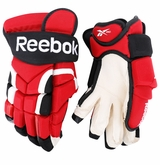 New Jersey Devils Reebok 10KN Pro Stock Hockey Gloves