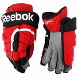 New Jersey Devils Reebok 11KP Pro Stock Hockey Gloves