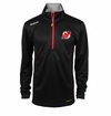 New Jersey Devils Reebok Baselayer Quarter Zip Pullover Performance Jacket