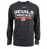 New Jersey Devils Reebok Center Ice Locker Room Sr. Long Sleeve Performance Shirt