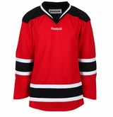 New Jersey Devils Reebok Edge Gamewear Uncrested Junior Hockey Jersey