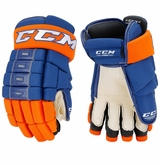 New York Islanders CCM 4-Roll Pro Stock Hockey Gloves