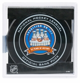 New York Islanders 43 Years Official NHL Game Puck with Cube