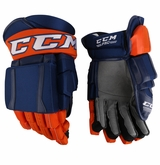 New York Islanders CCM Crazy Light Pro Stock Padded Hockey Gloves