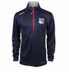 New York Rangers Reebok Baselayer Quarter Zip Pullover Performance Jacket