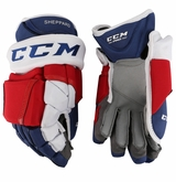 New York Rangers CCM 12 Pro Stock Hockey Gloves - Sheppard