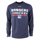 New York Rangers Reebok Center Ice Locker Room Sr. Long Sleeve Performance Shirt